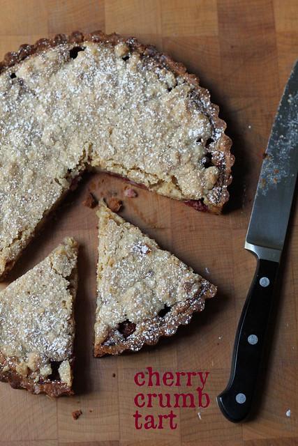cherry crumb tart
