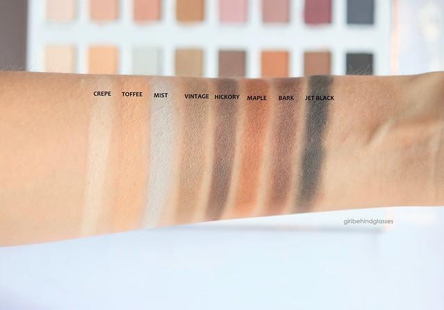 Lorac Mega Pro 3 Palette matte shades swatches row2
