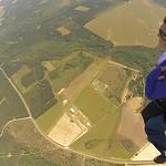 Enjoying a peaceful ride under parachute!