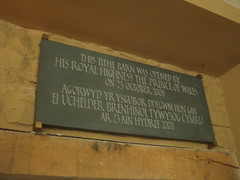 Photo of Tithe Barn, Abergavenny and Charles slate plaque