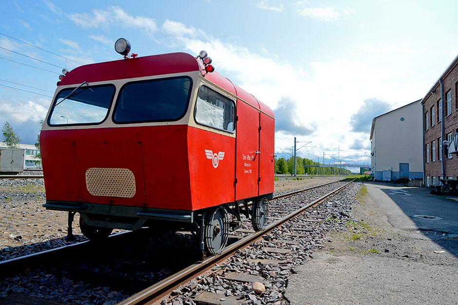 Museum railway car