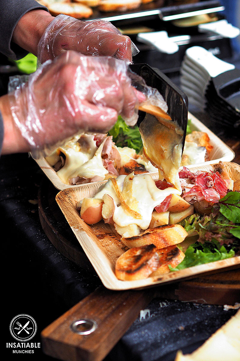 Review of BBR French World Festival: melted raclette over charcuterie platter