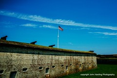 The Flag at Fort Macon