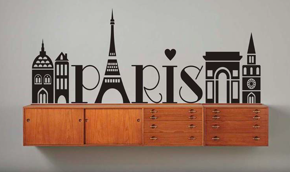 Paris French themed room for teen girl