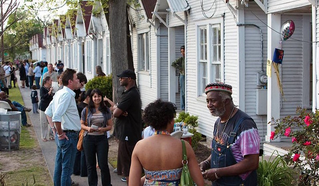 Community Gathering Outside Project Row Houses