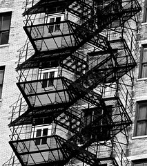 Fire Escape and Shadow, South Loop - Chicago, IL