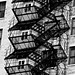 Fire Escape and Shadow, South Loop - Chicago, IL by Rex Mandel