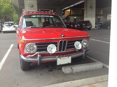 BMW 2002, red 1970s
