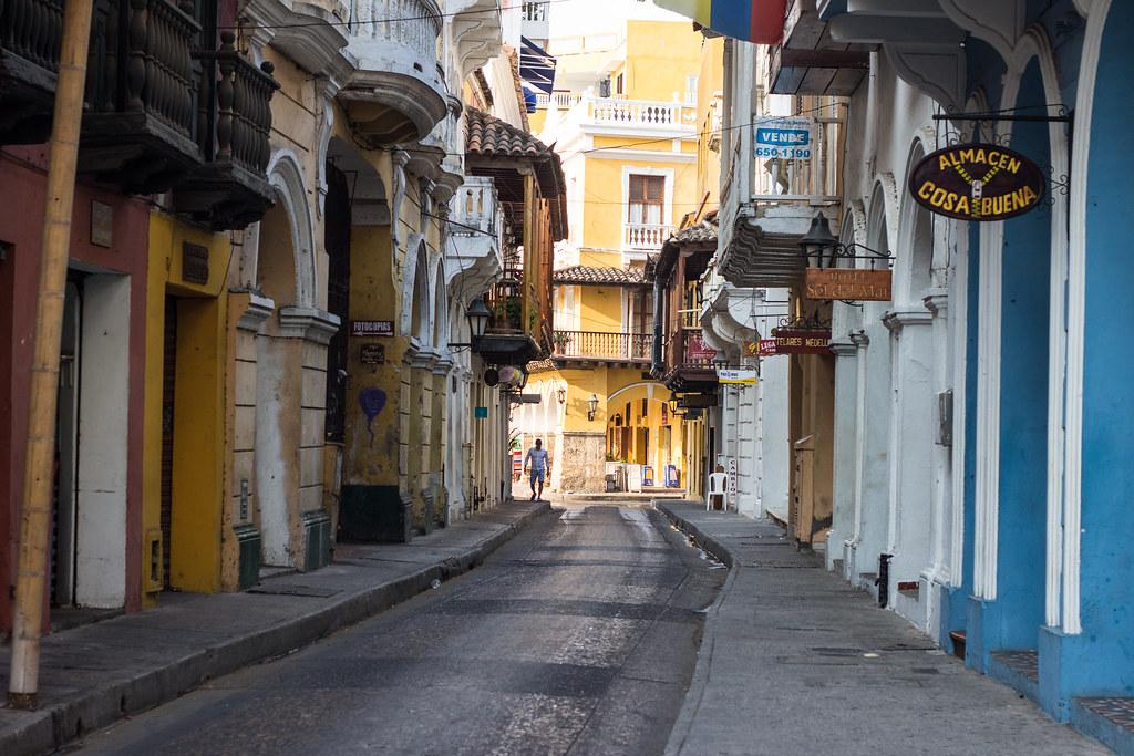 hiljaisuus, Cartagena, Kolumbia