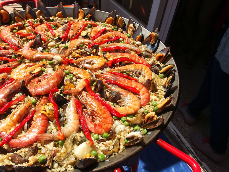 Paella, ready for eating
