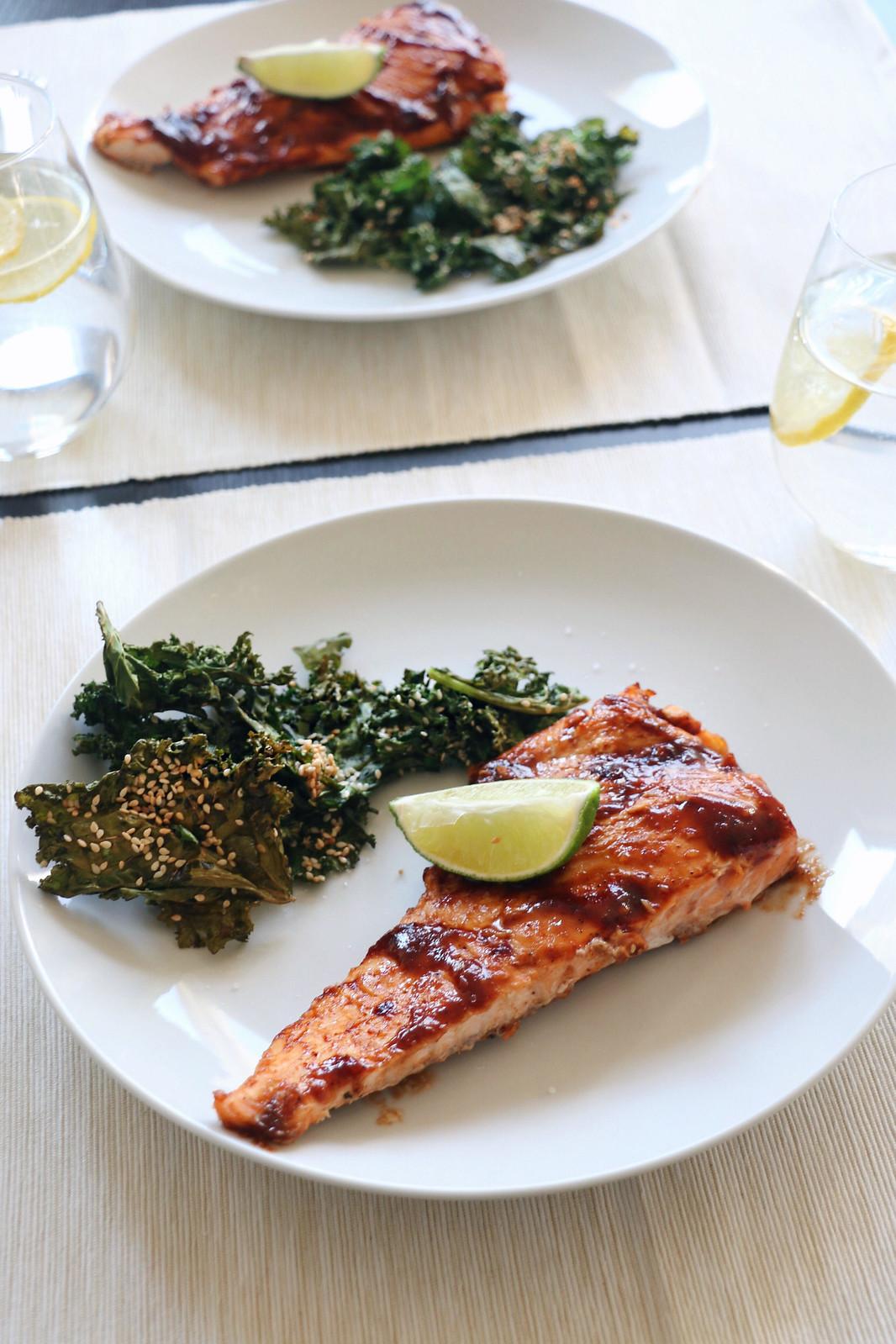 salmon & crispy kale 6