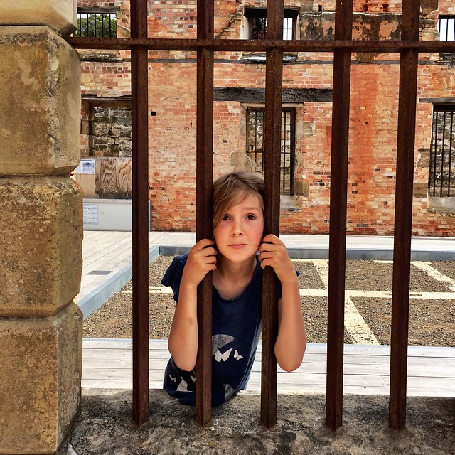 Zoe in the penitentiary. Port Arthur.