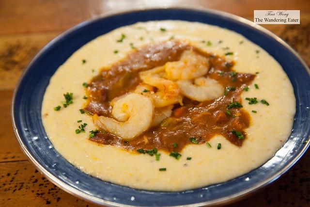 Fancy Grits - Adouille sausage, chicken, shrimp, gumbo, cheddar grits