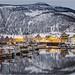 Winter evening in Rognan, Norway (explored)