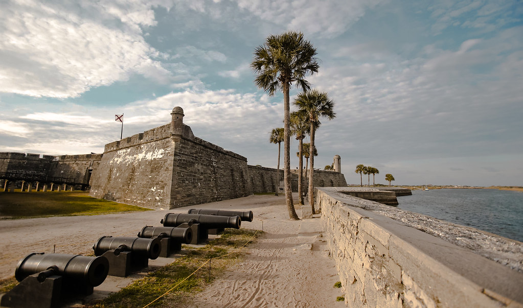 A view of the Castillo de San Marcos, St Augustine Fl.