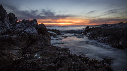 ocean longexposure hermanus southafrica rocks sunsets bluehour atlanticocean onrus westerncape rockpools