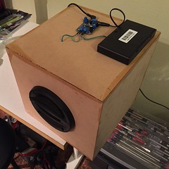 Late night speaker build. :hammer::sound2::full_moon_with_face::zzz:
