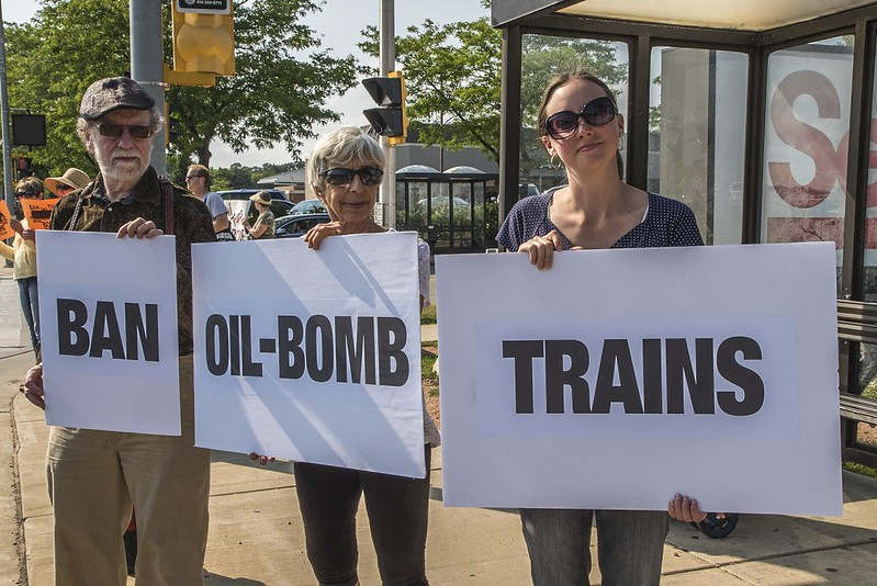 Concerned Tosa Residents Raise Awareness of Bomb Trains