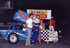 1993 Hy-Miler Supermodified Nationals Friday Winner Doug Saunier