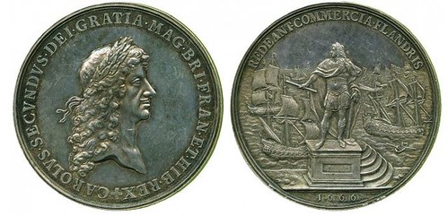1666 Proposed Commercial Treaty with Spain medal