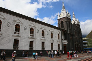 The Church of Our Lady of Holy Water.  Banos, Ecuador.