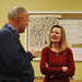Rep. Lezlye Zupkus speaks to a constituent following the Bethany Town Hall meeting.  Zupkus was joined by House Republican Leader Themis Karlides; the legislators gave an update on the 2015 session and answered constituent questions.
