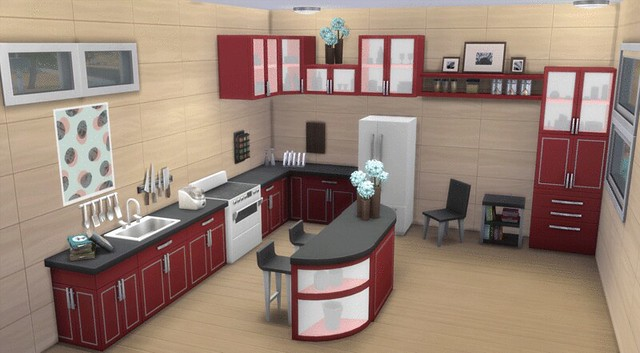 The sims 4 cool kitchen preview by simfans simsvip for Sims 3 kitchen designs