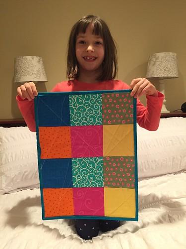 Becca's first quilt