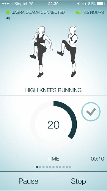 Jabra Sport iOS App - High Knees Running