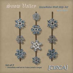 """@ Midwinter Fair 2016 - [CIRCA] - """"Snow Valley"""" - Snowflake Wall Strip Art - Blue Plaid"""