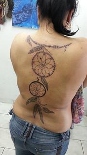 Tatuagem Filtros Dos Sonhos Costas Carlos Henrique Cardoso