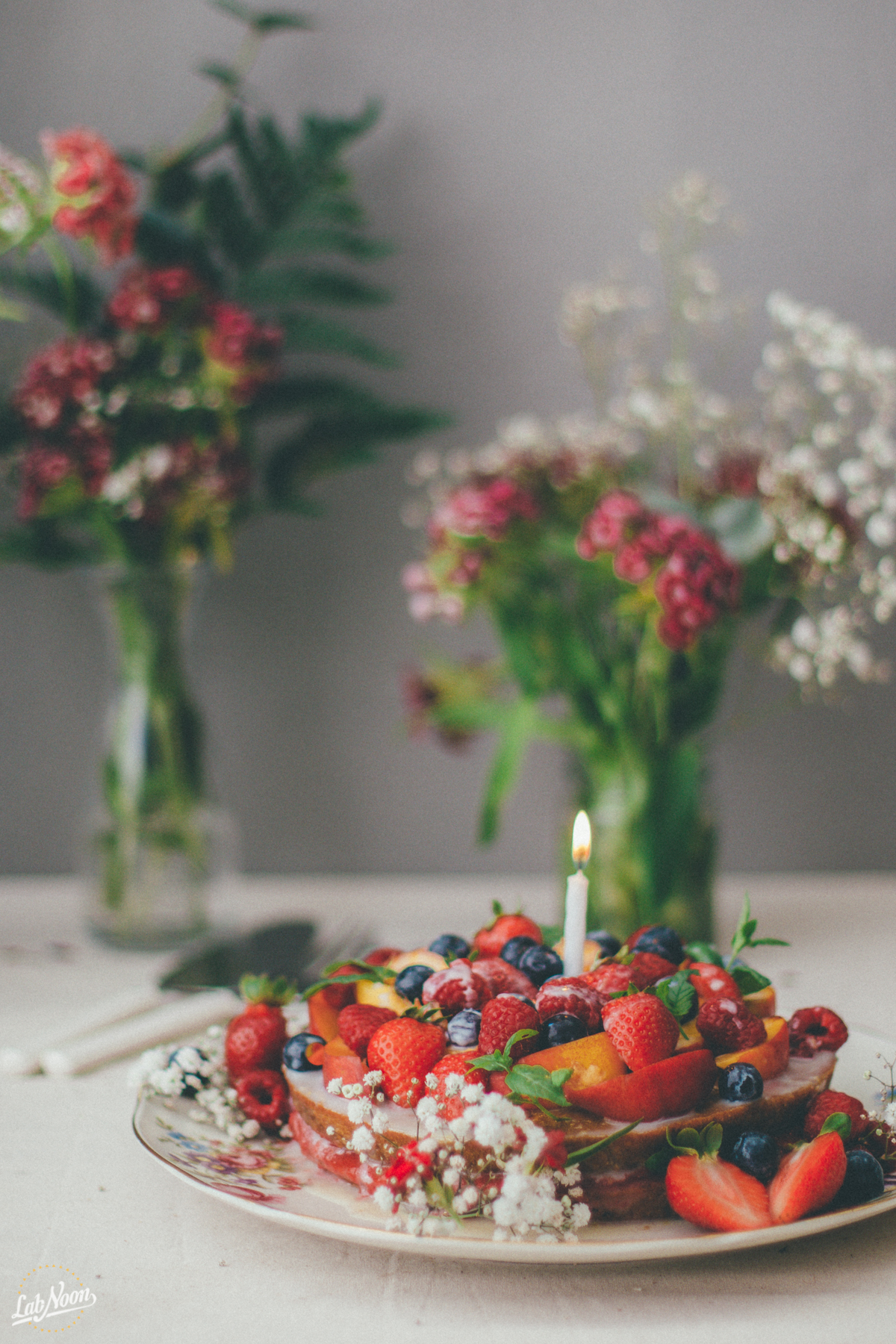 Lab Noon's Fruity Birthday Cake | Torta di Compleanno di Lab Noon -3