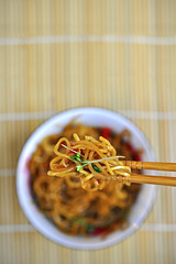 Honey and chilli noodles