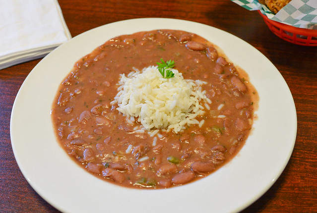 Red Beans served with white rice