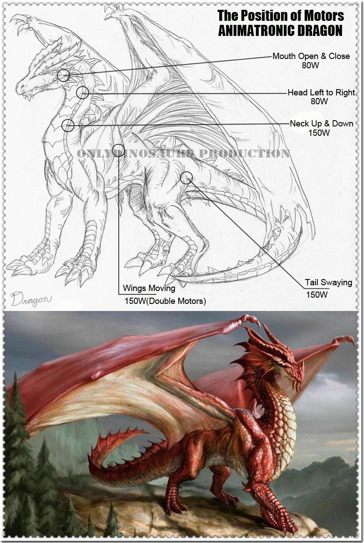 Motors Position of Animatronic Dragon