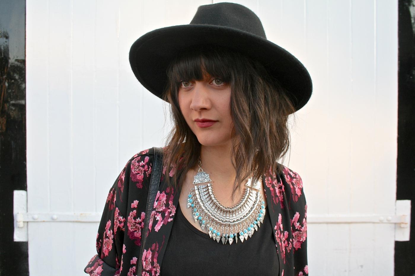 black primark fedora hat