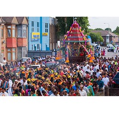 Woke up to the local temple religious festival. Never a dull moment up our street. #religion #festival #localfestival #templefestivalilford #ilford #essex #redbridge #UpMyStreet #sriselvavinayagartemple