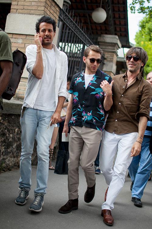 夏のシャツスタイル ジーンズ&チノパン&ホワイトパンツ
