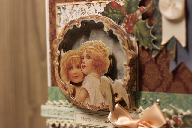 Victorian Christmas angel decoupage