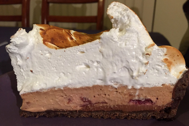 Black Forest meringue pie