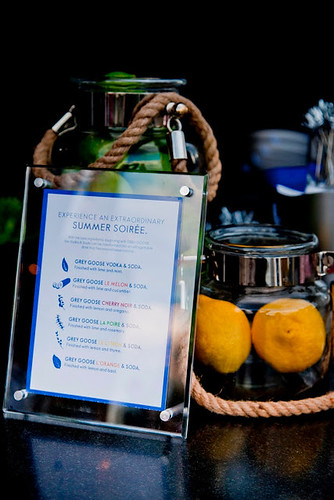Guests enjoyed six citrus infused Grey Goose cocktails