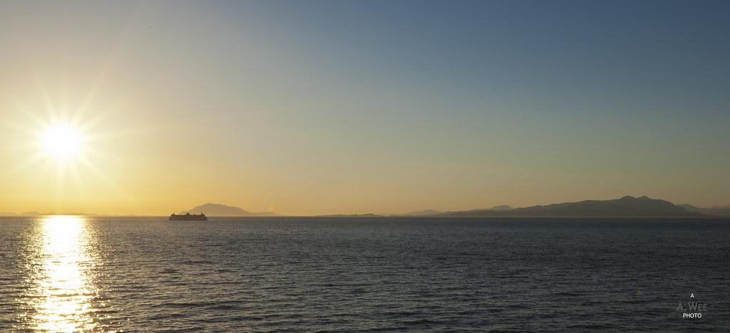 Sunset at the Strait