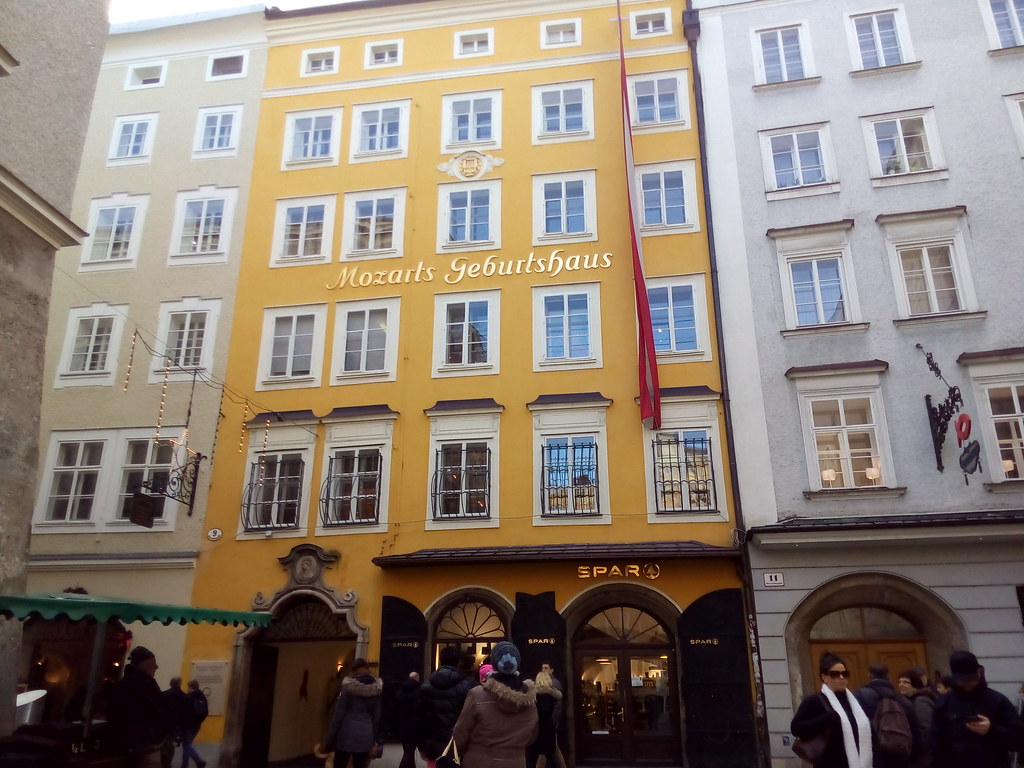 Mozart Geburthaus, em Salzburgo