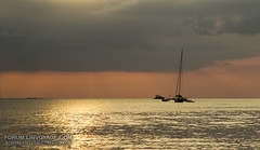 Sunset with yachts. Phuket