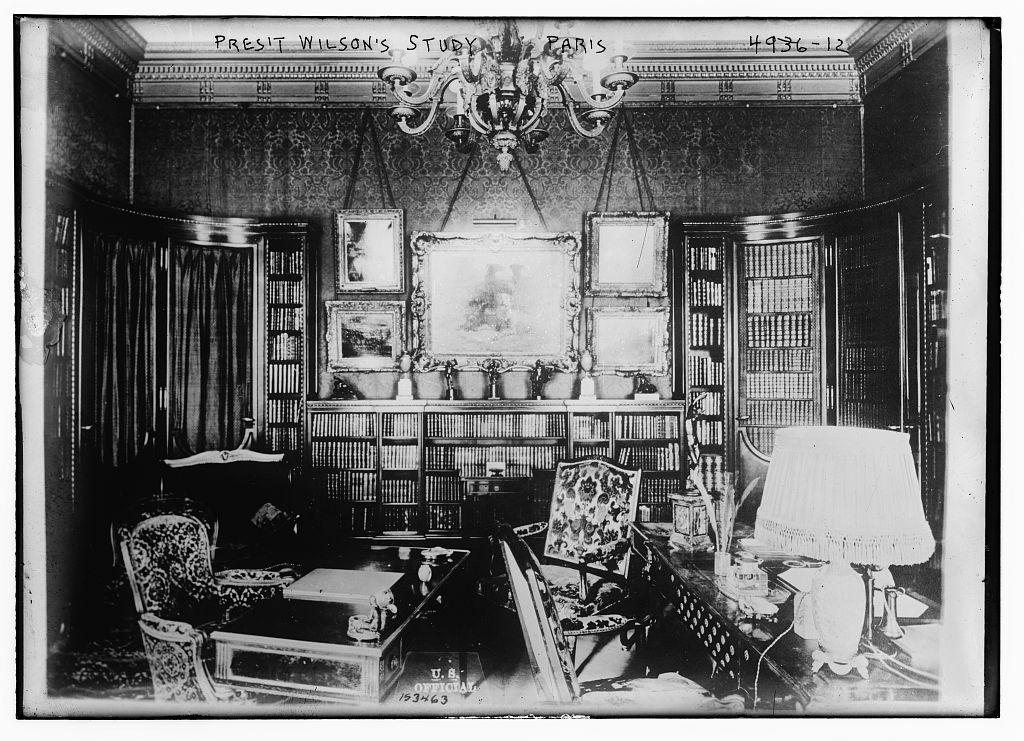 Pres't Wilson's study, Paris (LOC)