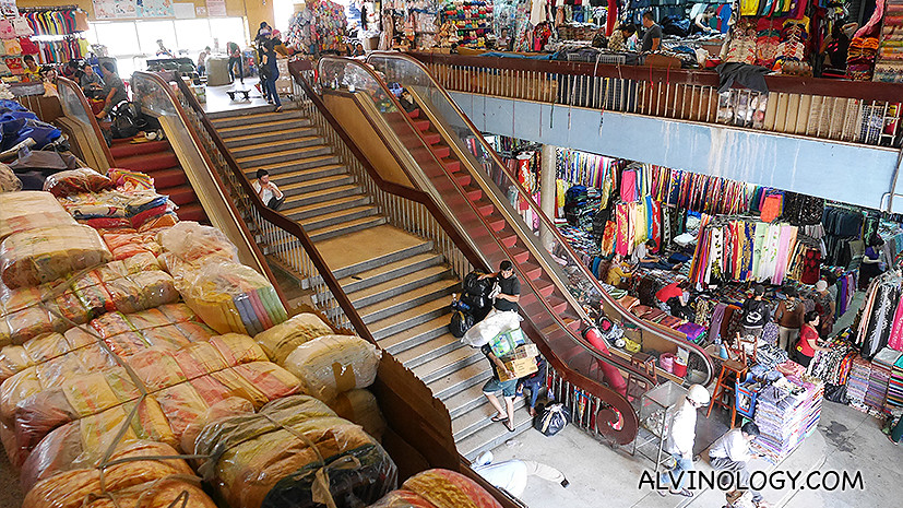 Two stories of textile shopping