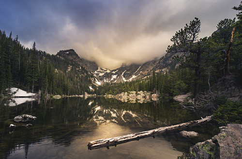 sunset lake mountains reflection landscape colorado dream glaciers rockymountains rmnp rockymountainnationalpark dreamlake brockwhittaker brockwhittakerphotography lavancier