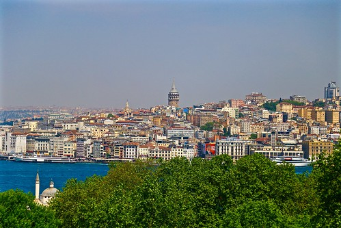 Galata Tower from the Topkapi Palace
