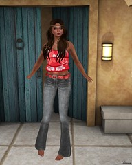Lapointe & Bastchild - SWear Flare Denim Jeans with Belt-2