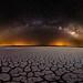 Laguna y galaxia by Juan A. Bafalliu